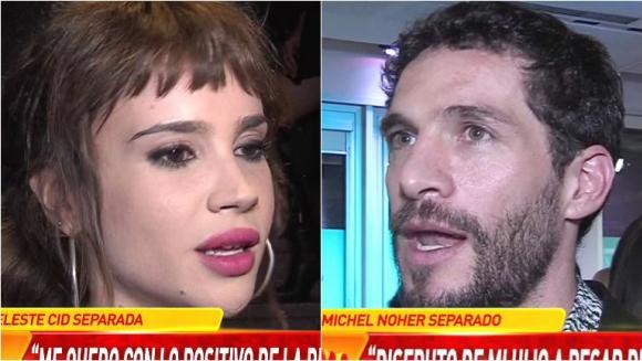 Celeste Cid y Michel Noher hablaron de su separación en Infama: Es genuino el amor que tenemos