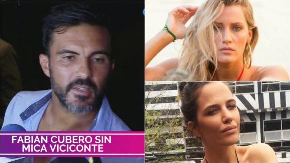 Fabián Cubero y su llamativa respuesta cuando le preguntaron por el faltazo de Mica Viciconte a un evento de Ivana...