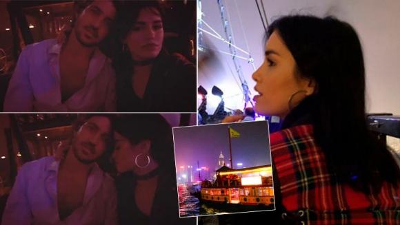 El romántico paseo en barco de Lali y Santiago Mocorrea por Hong Kong