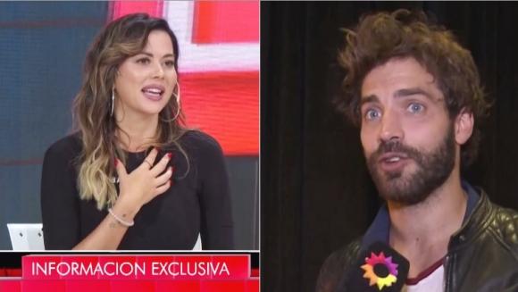 La reacción de Benjamín Alfonso tras los piropos de Karina Jelinek (Fotos: Capturas)