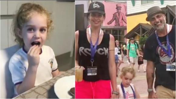 Las dulces palabras de Jorge Rial dedicadas a la hija de Romina Pereiro por su cumpleaños (Fotos: Capturas de video de Instagram)