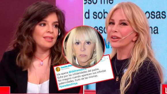 Resultado de imagen para Fuertes tweets de Graciela Alfano contra Dalma Maradona y Claudia Villafañe tras contar su affaire con Diego