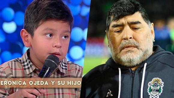 """El tierno mensaje de Dieguito Fernando para Diego Maradona: """"Papá, vení a visitarme, te amo"""""""