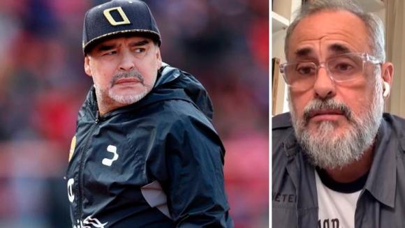 """Jorge Rial apuntó fuerte contra el """"entorno"""" de Diego Maradona: """"Hay uno que lo usa para cambiar sus camisetas por porros"""""""