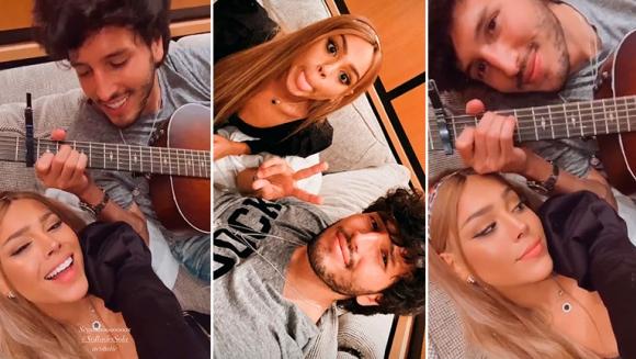 """¡Hay química! Danna Paola compartió un video de su madrugada cómplice con Sebastián Yatra: """"2 AM, Miami"""""""