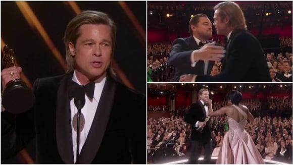 """Resultado de imagen de Brad Pitt al ganar su primer Oscar como actor: """"Esto es para mis hijos que los adoro"""""""
