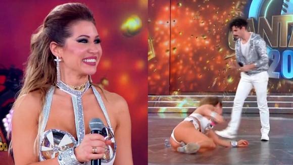 El video de la dolorosa caída de Adabel Guerrero en Cantando 2020: terminó desparramada en el suelo - Ciudad Magazine